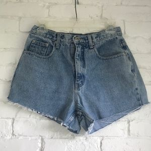 High waisted cutoff jean shorts ~28in waist